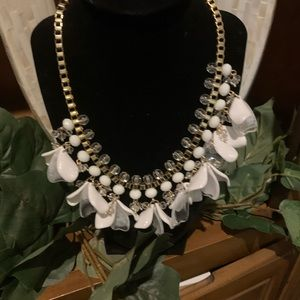 White petal necklace by INC NWT